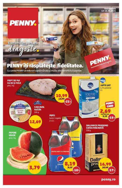 Penny Market - promo începând de la 12.05.2021 până la 18.05.2021 - pagină 1.