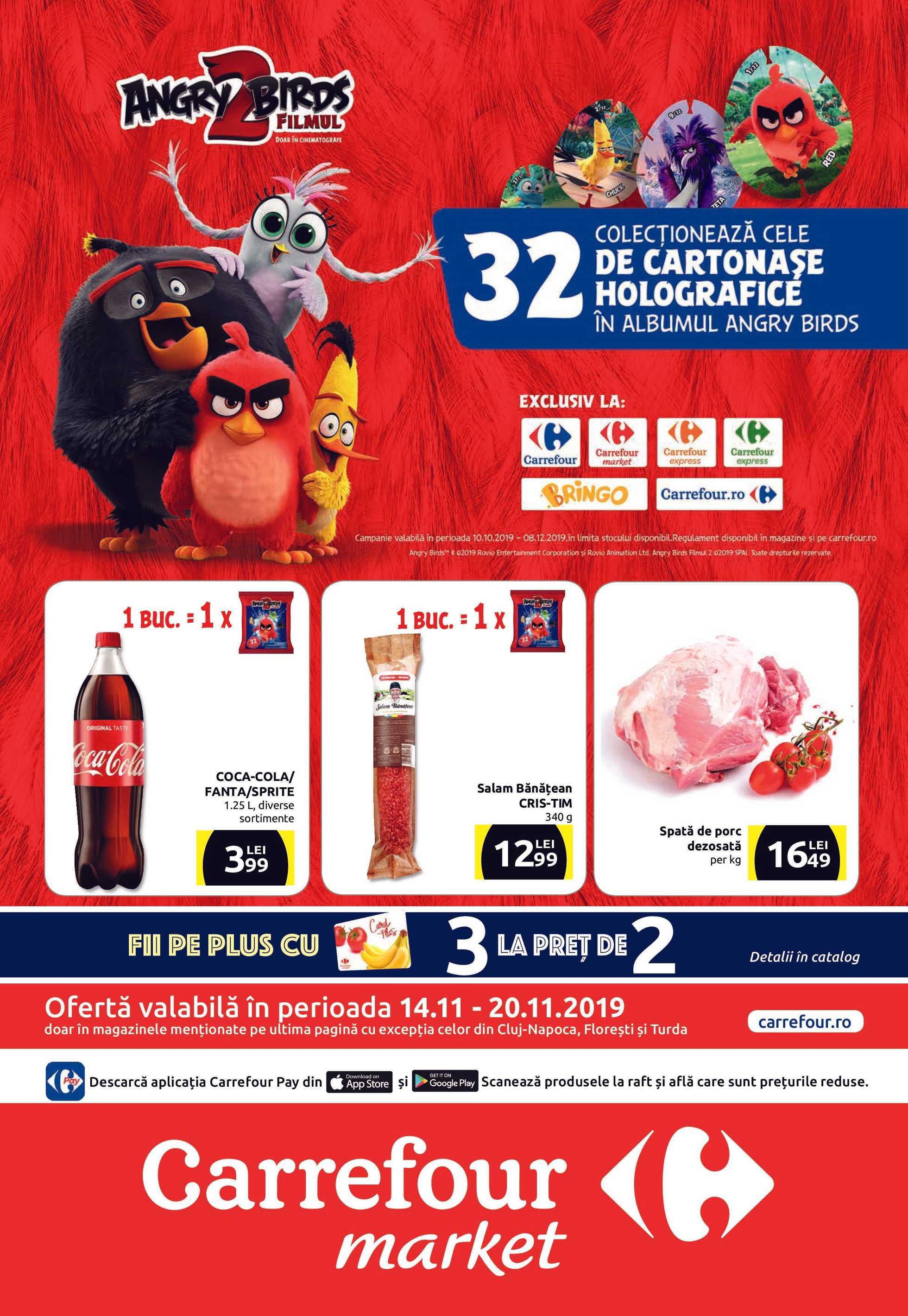 Carrefour Market - promo începând de la 14.11.2019 până la 20.11.2019 - pagină 1.
