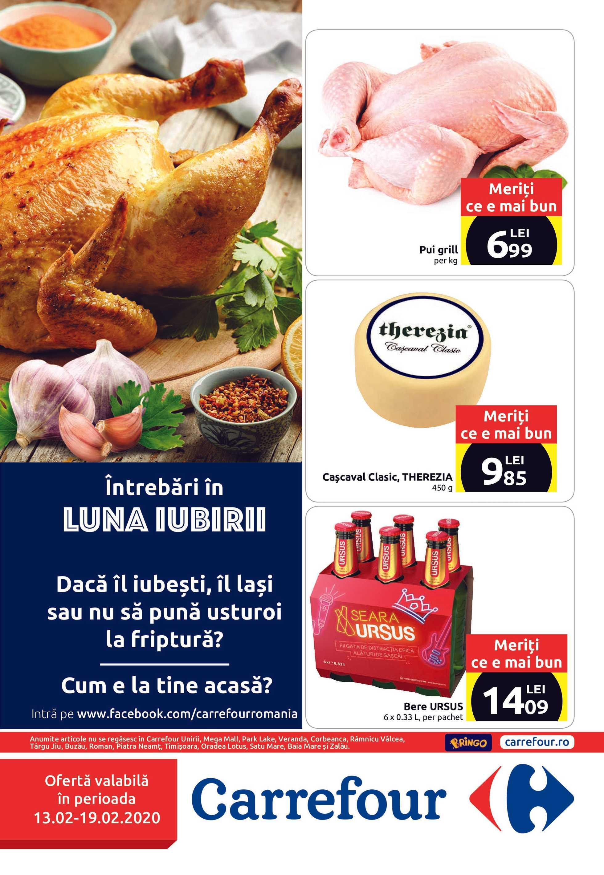 Carrefour - promo începând de la 13.02.2020 până la 19.02.2020 - pagină 1.