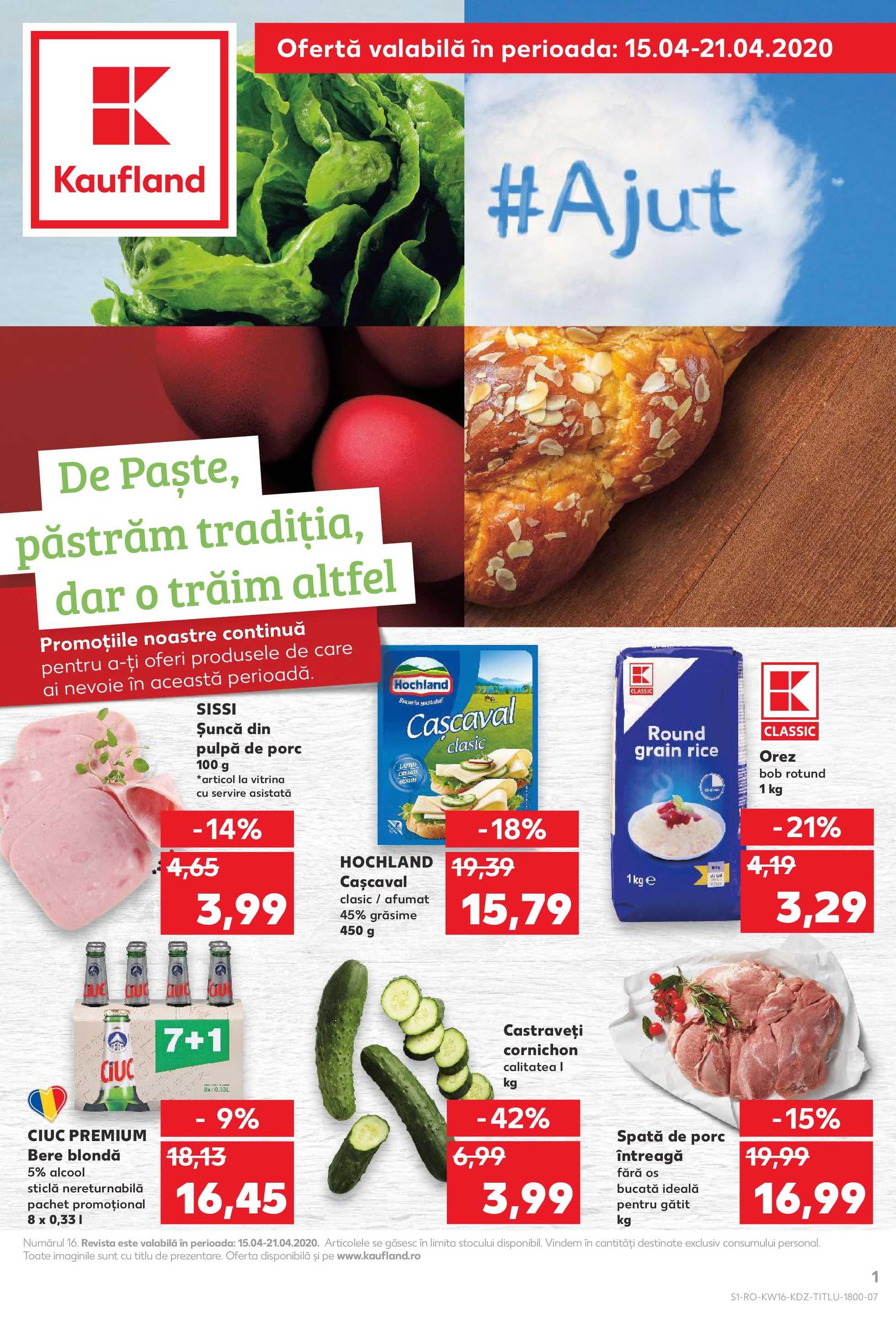 Kaufland - promo începând de la 15.04.2020 până la 21.04.2020 - pagină 1.