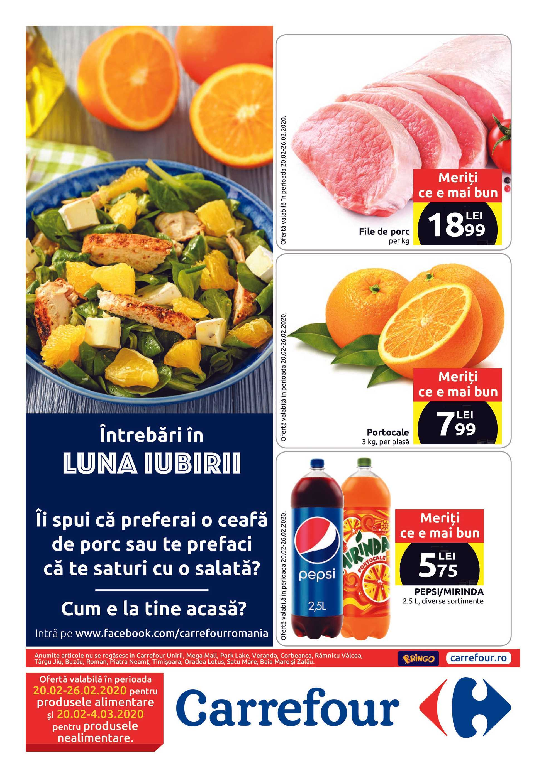 Carrefour - promo începând de la 20.02.2020 până la 04.03.2020 - pagină 1.