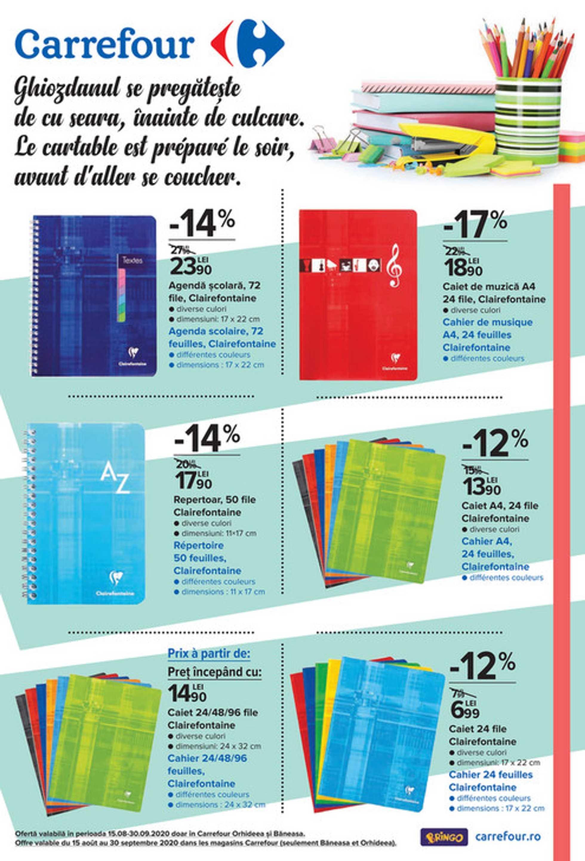 Carrefour - promo începând de la 18.08.2020 până la 30.09.2020 - pagină 1.