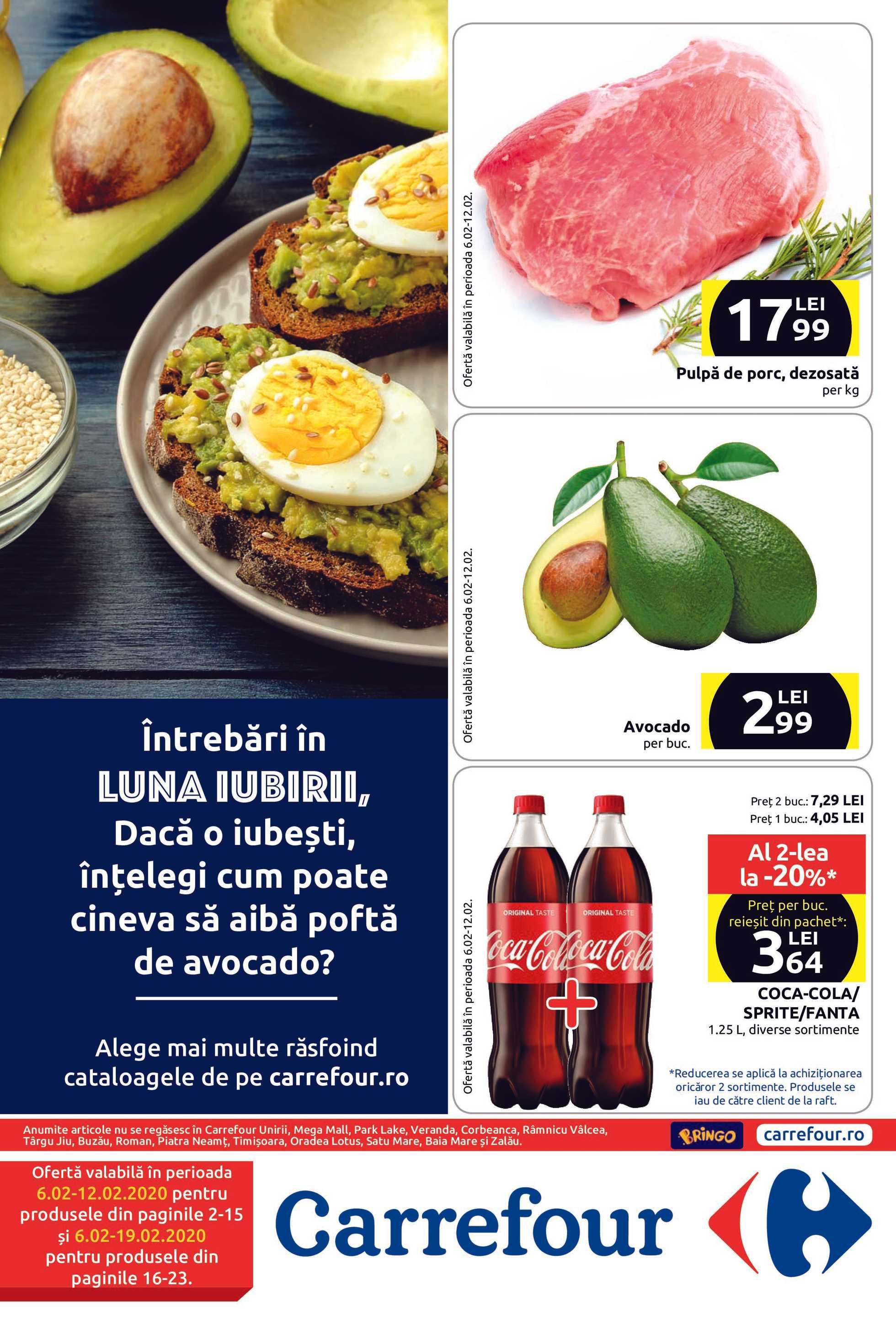 Carrefour - promo începând de la 06.02.2020 până la 19.02.2020 - pagină 1.