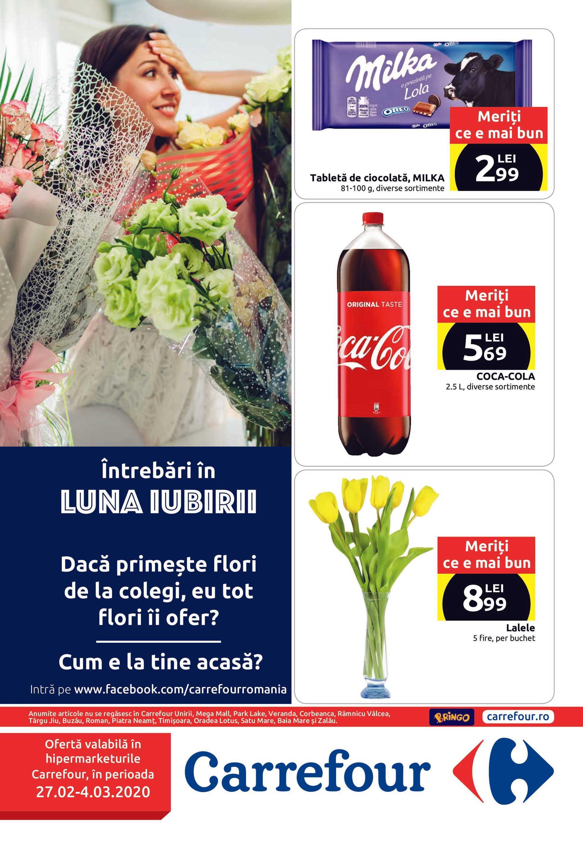 Carrefour - promo începând de la 27.02.2020 până la 04.03.2020 - pagină 1.