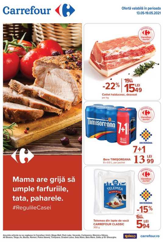 Carrefour Market - promo începând de la 13.05.2021 până la 19.05.2021 - pagină 1.